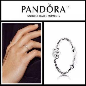 PANDORA Sterling Silver CZ Spirited Heart Ring 7
